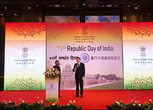 外交部副部长罗照辉出席印度共和国日招待会