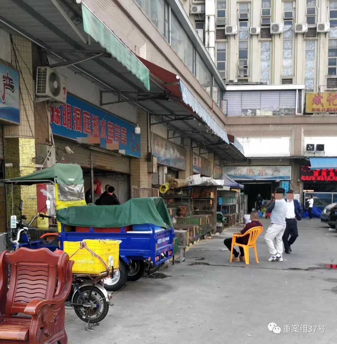 """▲多家私售""""野味""""的店铺表面上为水产店铺。新京报记者 刘浩南 摄"""