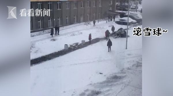 俄罗斯大象搬家逃到雪地撒欢 马戏团:它看到雪想散步