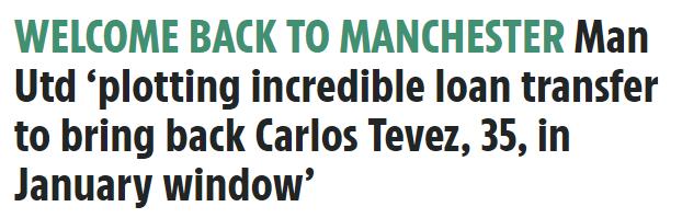 急了?都体:曼联有意租借旧臣特维斯