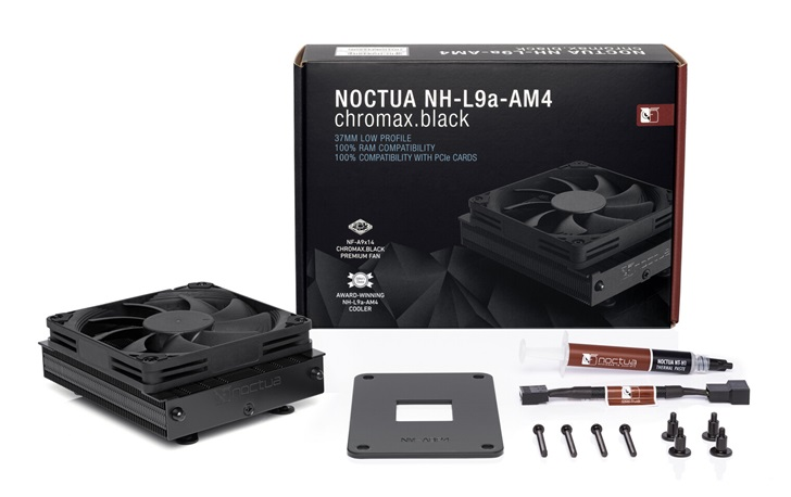 """猫头鹰推出""""全黑""""款ITX 散热器:37mm高,支持AMD平台"""