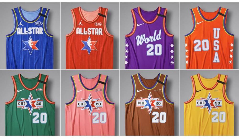 新鲜出炉!NBA公布本赛季全明星球衣