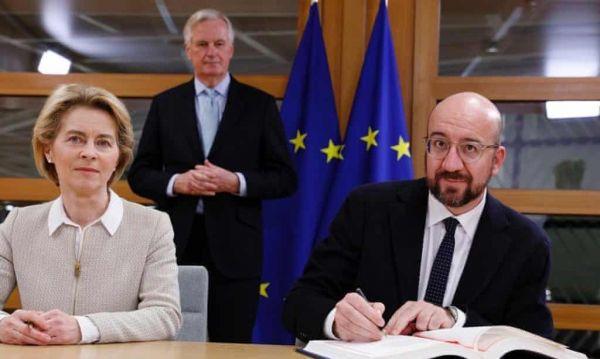 欧盟领导人签署英国脱欧协议 脱欧程序迎来最后一周倒计时