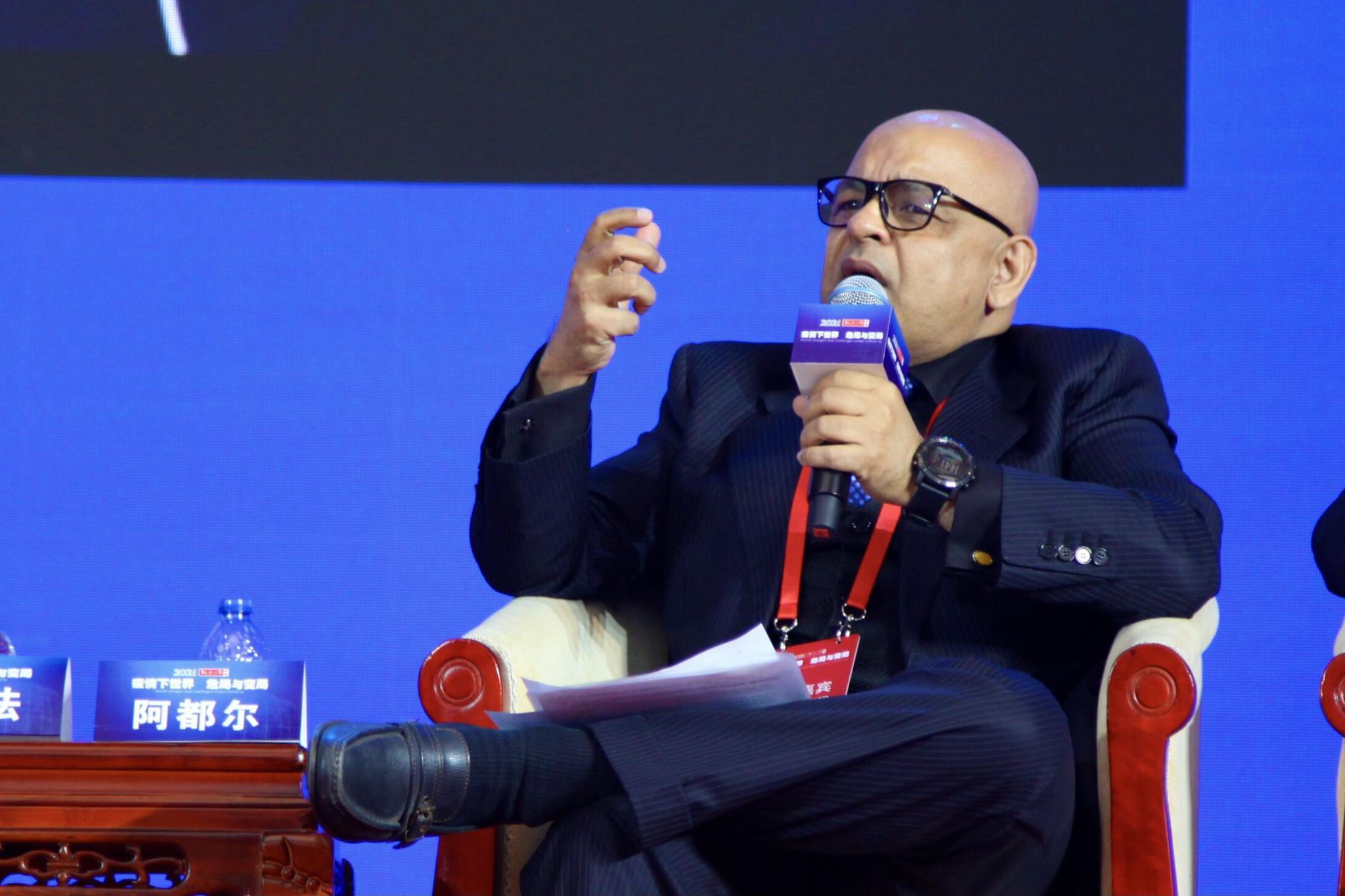 """印度工商联合会执行董事:中印共28亿人口,""""我们没有选择,肯定要一起和平发展""""图片"""