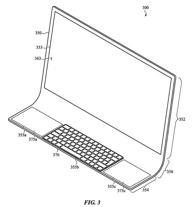 """苹果iMac新设计专利:一整块""""J""""形曲面玻璃"""