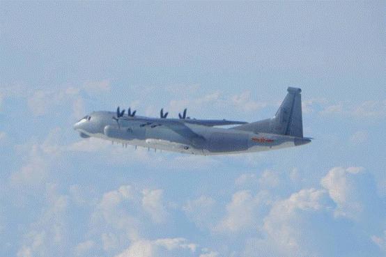 """绿媒:解放军军机今日进入台湾西南空域,""""本月未中断""""图片"""