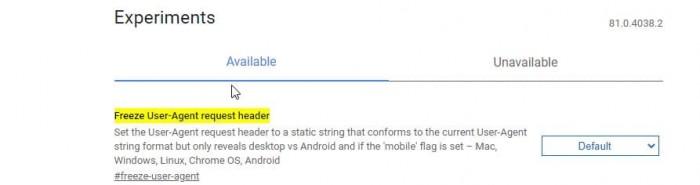 Google迈出在Chrome中冻结用户代理字符串(UA)的第一步