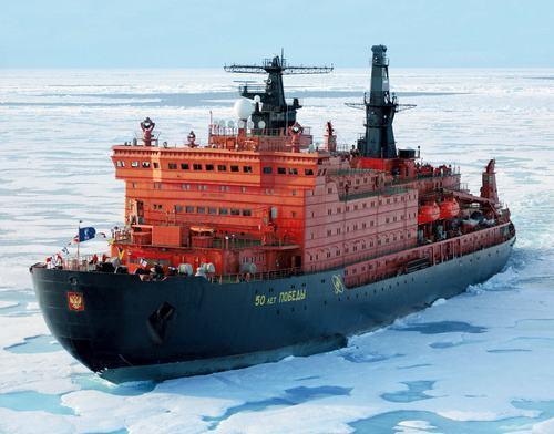 控制北极,再次复兴,俄罗斯野心不小,三万吨核动力破冰船下线