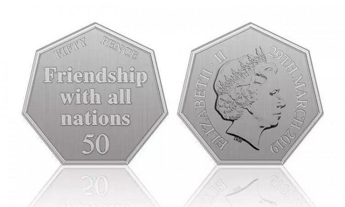 """英国月底将发行约300万枚""""脱欧""""纪念币"""