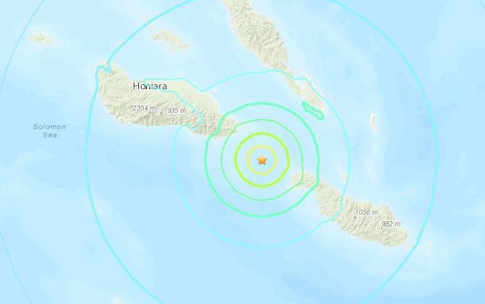 所罗门群岛附近海域发生6.3级地震 震源深度约17.7公里