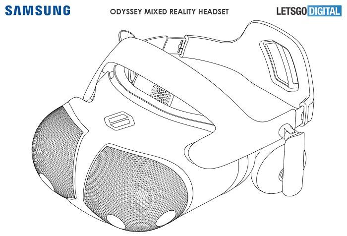 专利曝光了2020款三星Odyssey混合现实头显的设计