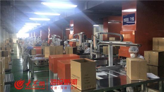 淄博担当 蓝帆医疗:取消休假全部在岗 每人每天包装9万只医用手套