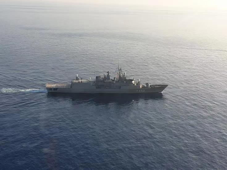 塞希法意四国在东地中海举行联合军演