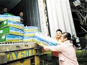 跨越3500多公里 308箱蒙古国捐赠羊肉抵琼图片
