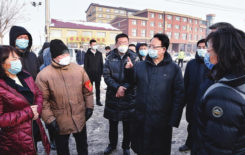 吉林省省长景俊海赴松原检查疫情防控工作