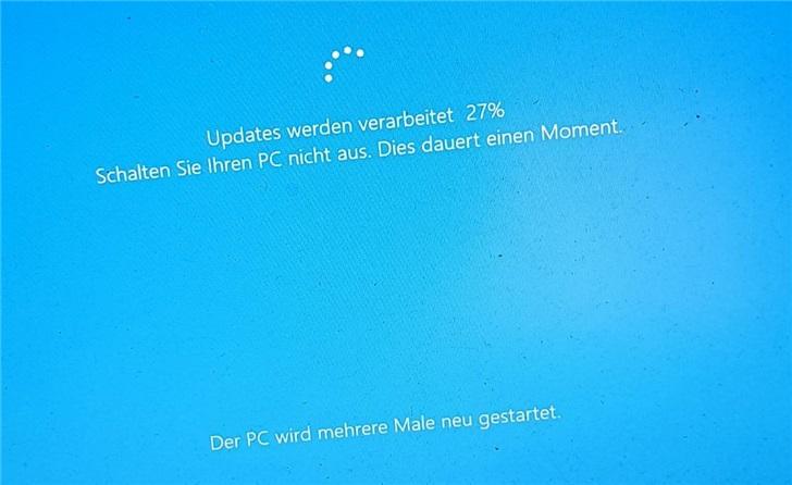 微软Windows 10更新卡在27% DJ很着急