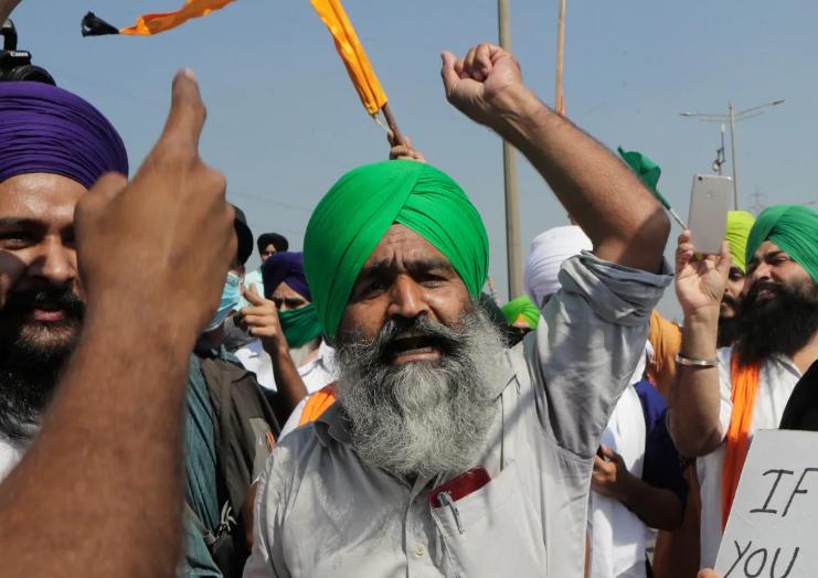 印男子在农民抗议现场猝死 警方:死因正在调查中
