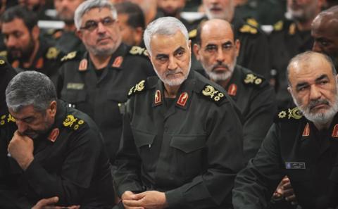 """伊朗伊斯兰革命卫队下属""""圣城旅""""指挥官卡西姆·苏莱马尼。图片来自网络"""