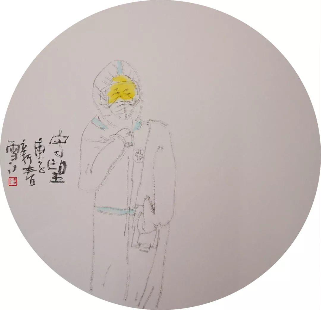 """以画笔为枪共抗疫情,汪家芳、李向阳等上海画坛""""老法师""""纷纷出手!"""