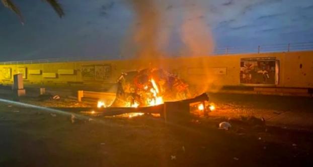 美军袭击巴格达机场(来源:路透社)