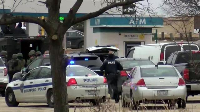 美国伊利诺伊州一银行发生持枪挟持人质案