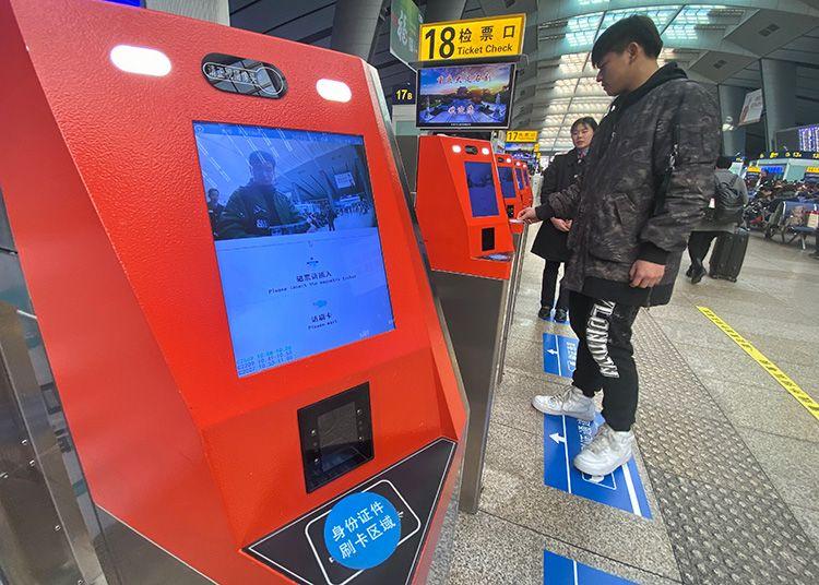 南站部分线路启用电子票 春运基本覆盖全国高铁图片