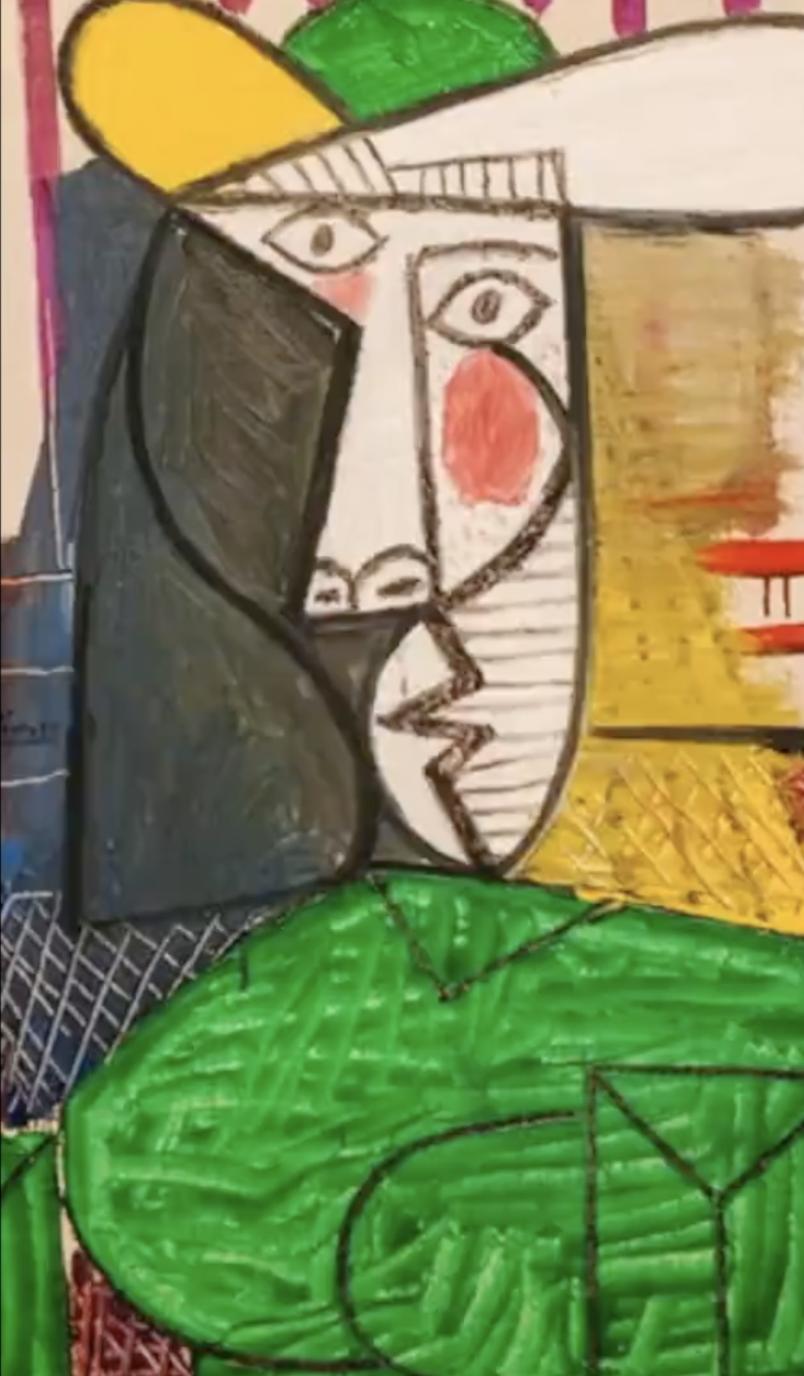 毕加索名画《女子半身像》被撕,价值1.8亿元