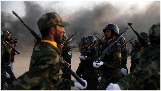 """资料图:伊拉克什叶派民兵武装""""人民动员组织""""(PMF)"""