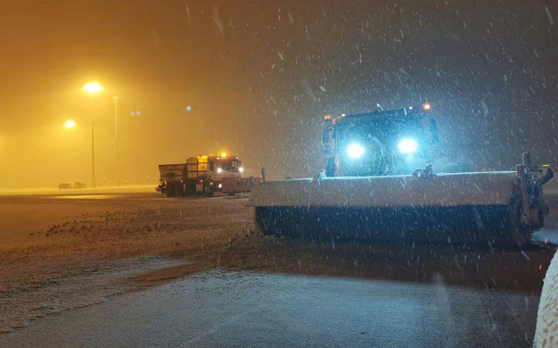 大兴机场降雪预计持续至6日7时 能见度有所下降图片