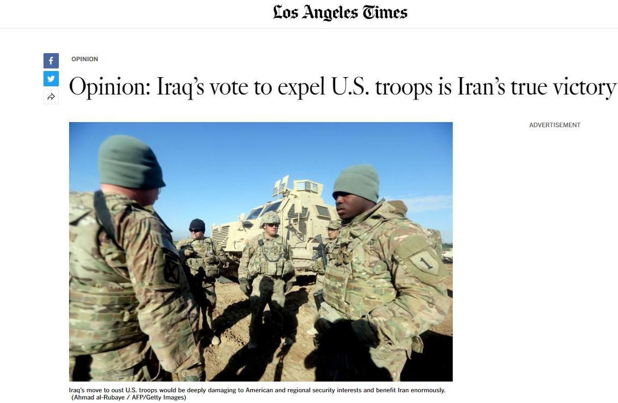 """伊拉克下""""逐客令"""" 美军将失中东重要基地?"""