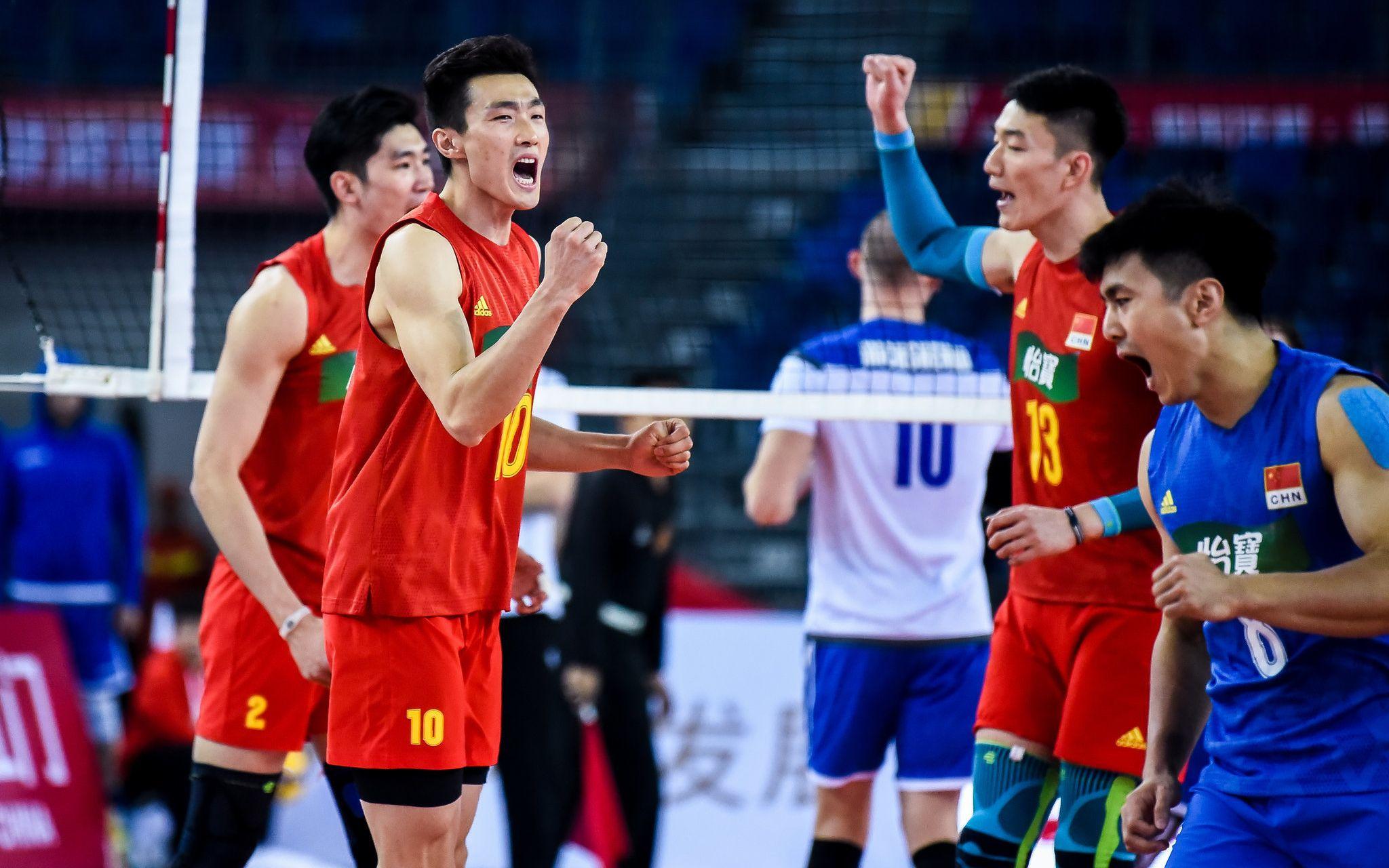 中国男排获奥运资格赛首胜,江川荣膺得分王图片