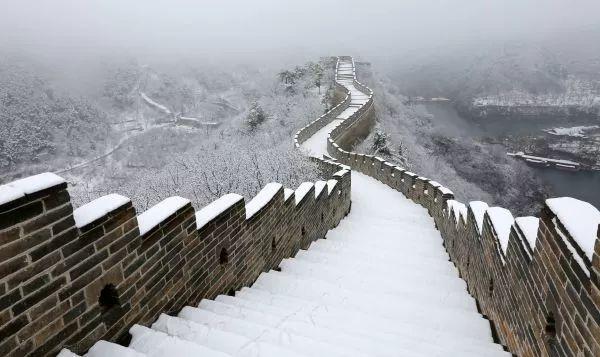 ▲资料图片:长城雪景(新华社)