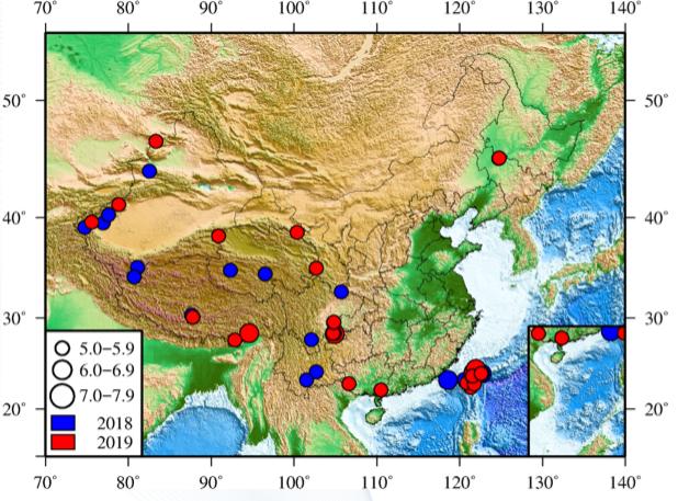2019中国地震年报出炉:大陆地震低于平均水平图片