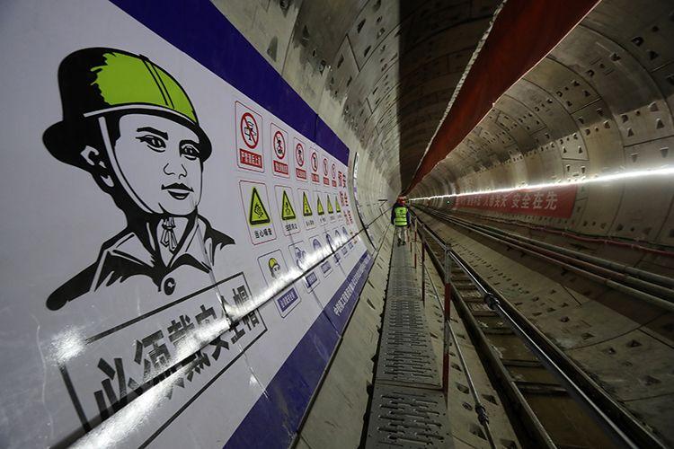 19号线支线顺利穿越京张高铁 未来清河站可换3条地铁图片