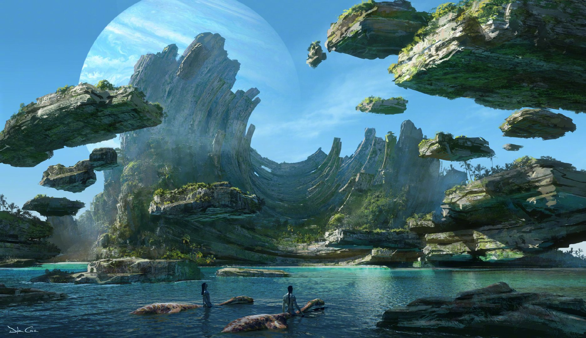 《阿凡达2》发布高清概念图,将探索新地区图片