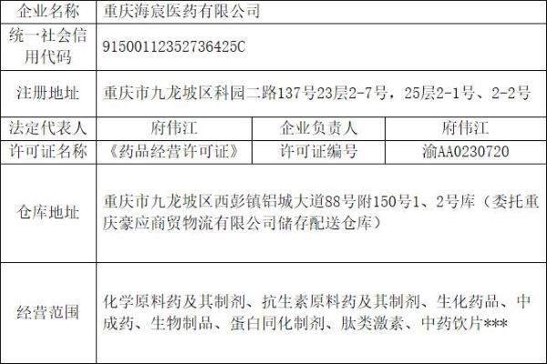 重庆市药监局:拟注销重庆海宸医