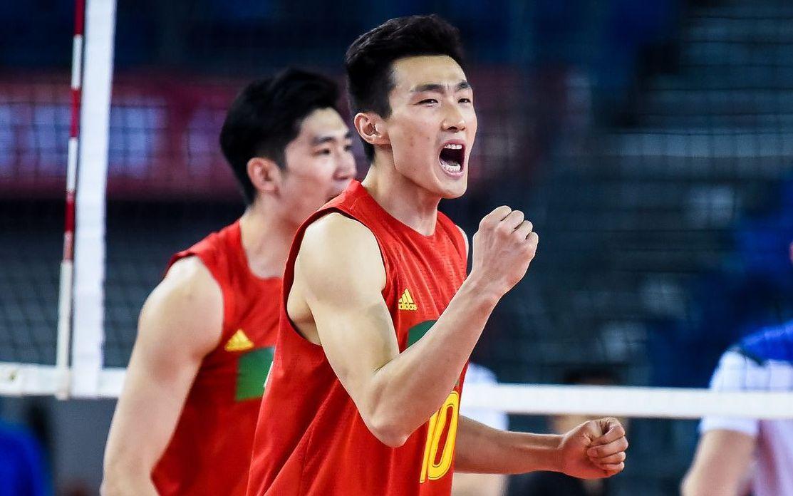 中国男排险胜中国台北队,提前锁定奥运资格赛四强图片