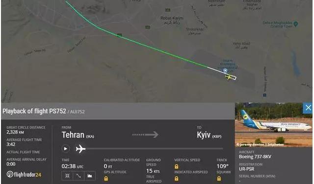载人180的波音737在伊朗坠机 外媒称其被伊朗机管局击落