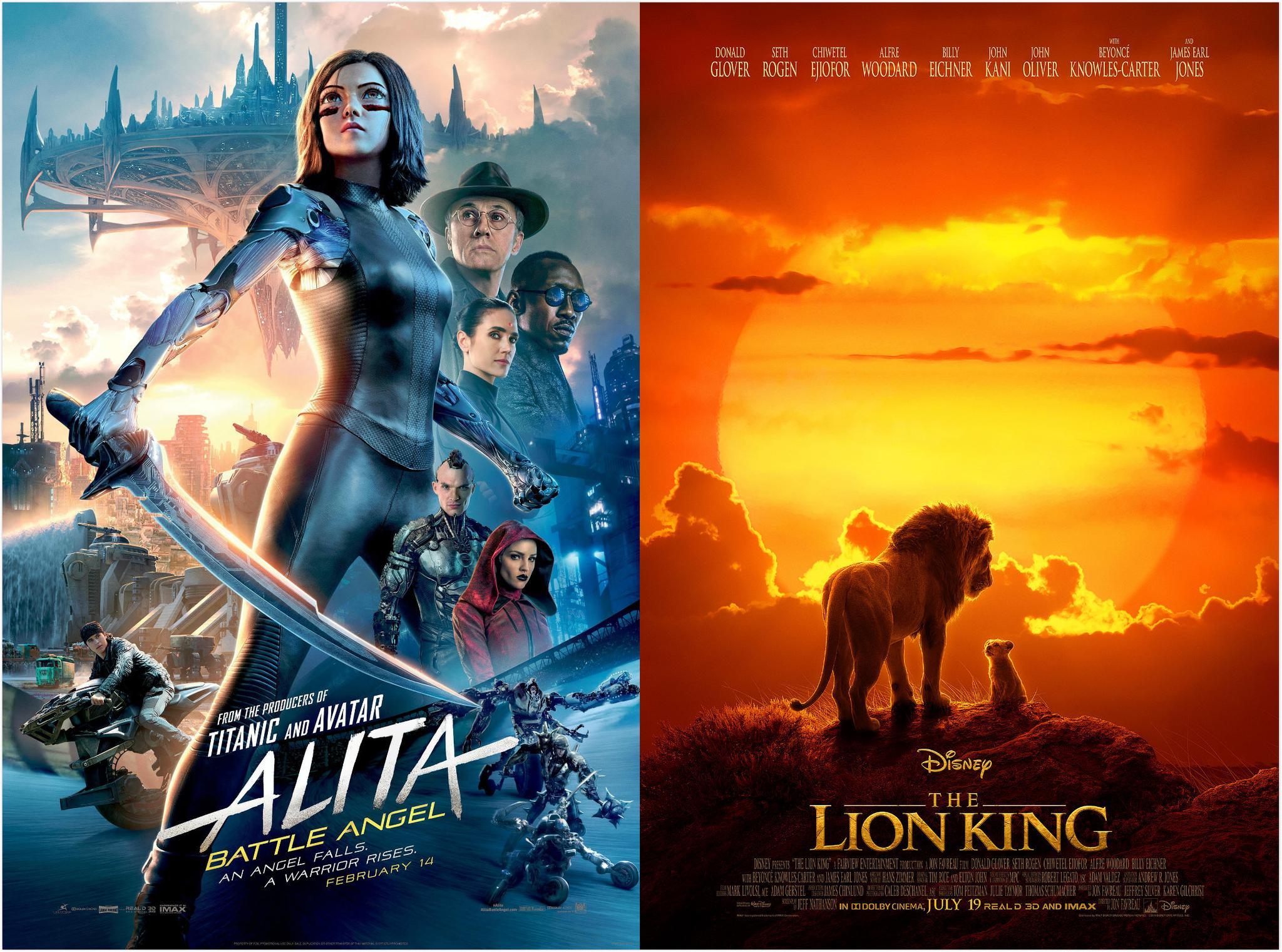 《阿丽塔》《狮子王》领跑美国视觉效果工会奖提名图片