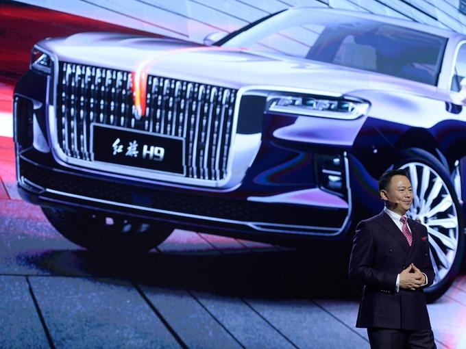 红旗H9全球首发 3.0T V6+纵置后驱的豪华标杆