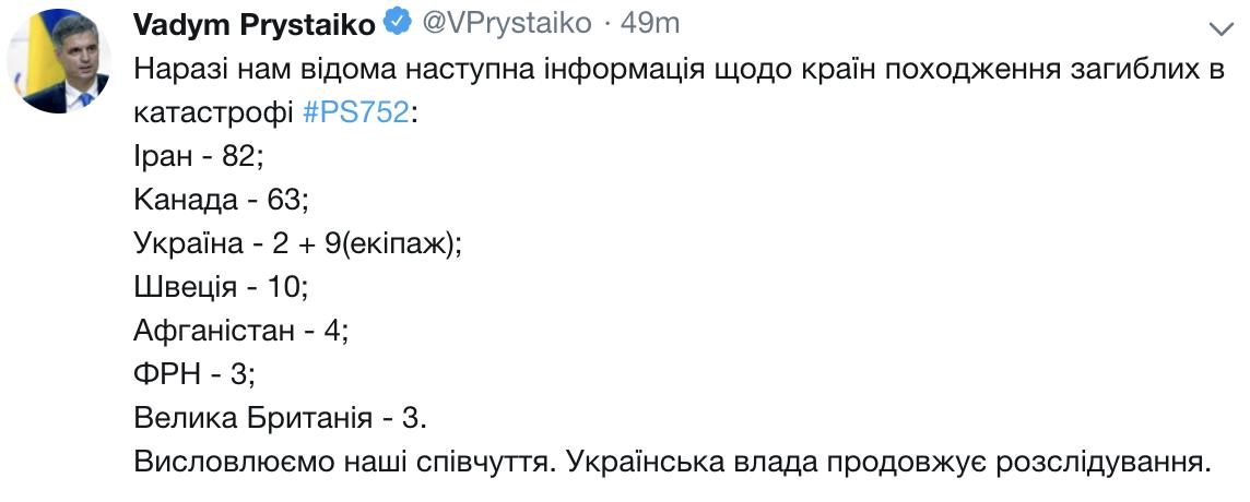 乌克兰一客机坠毁,机上176名遇难者来自多个国家图片