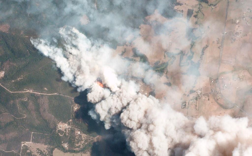 澳大利亚山火浓烟 图:法新社