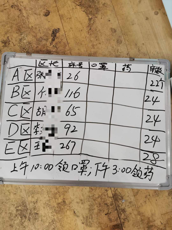 武昌方舱医院目前实施患者自治的模式。受访者供图