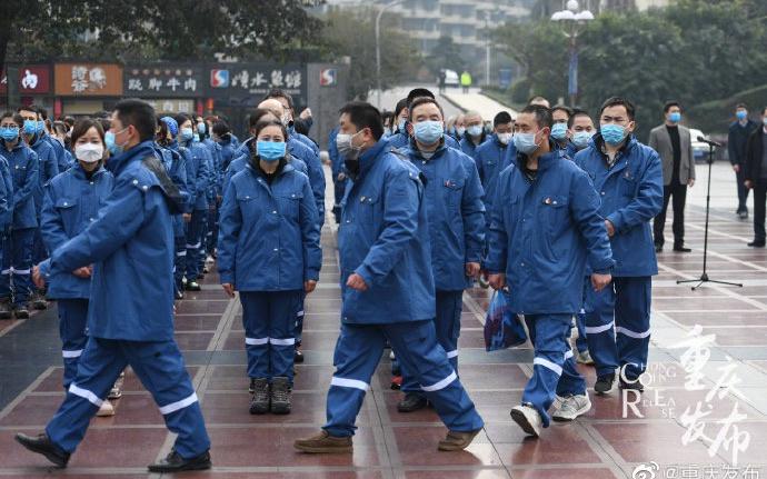 重庆再派159名医务人员支援湖北孝感市图片