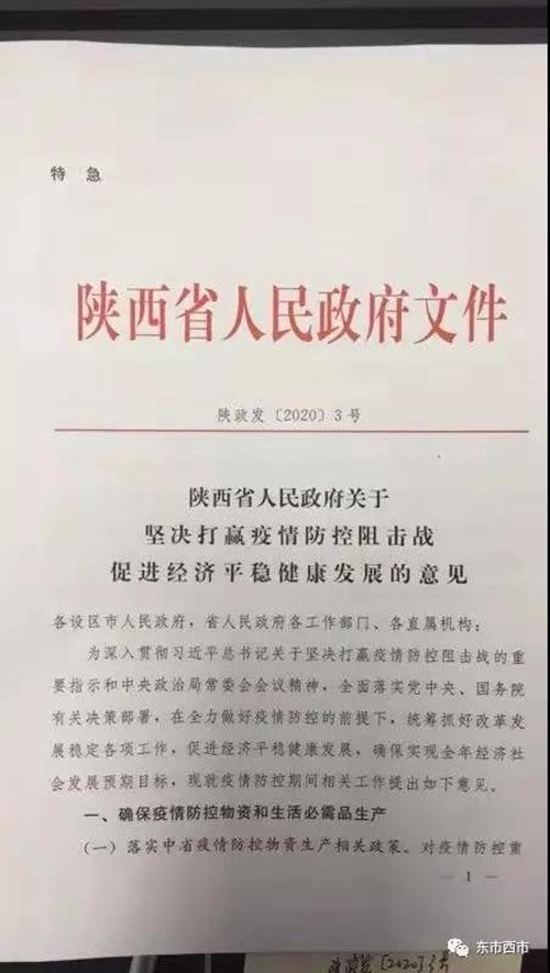 """陕西发布阻击疫情促经济""""22条"""""""