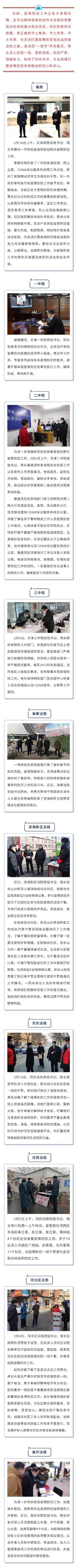 """天津法院:""""一把手""""带头担当落实疫情防控主体责任图片"""