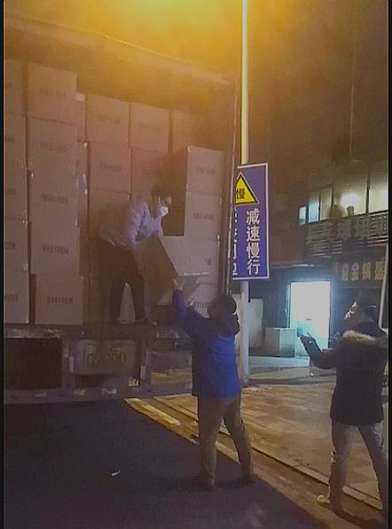 物资到达武汉