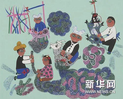 陕西省美术博物馆藏安塞农民画作品展