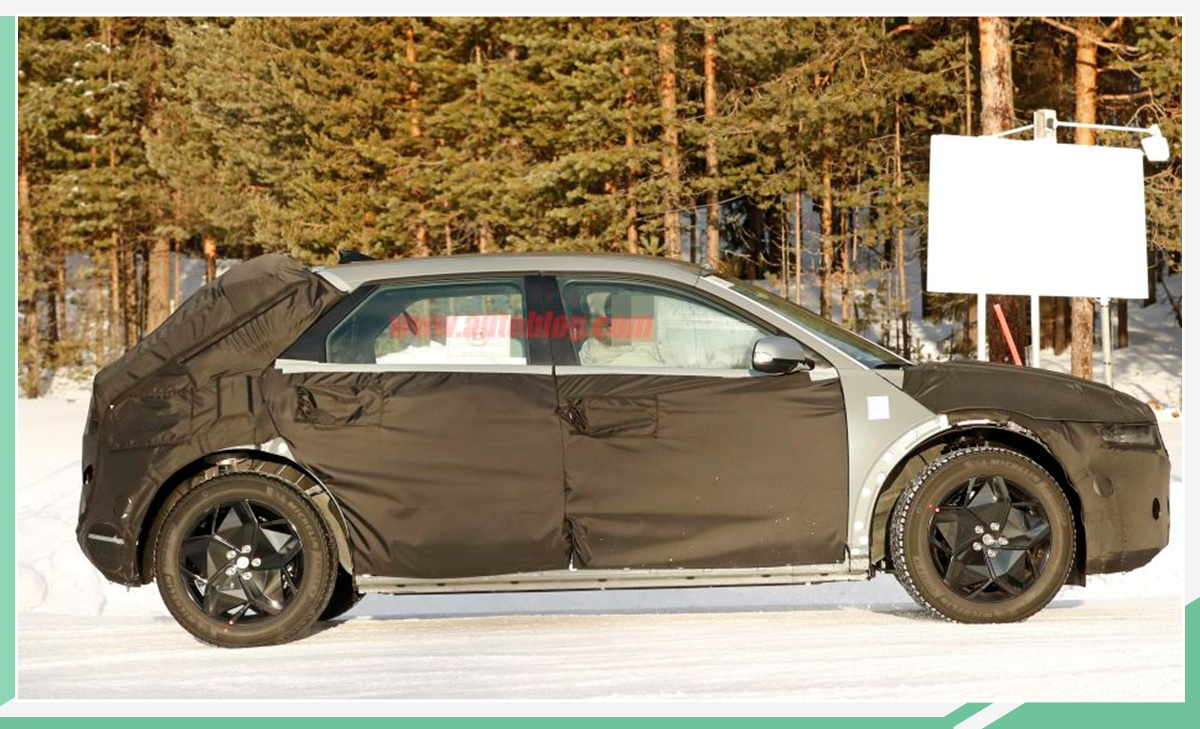 现代45 EV路试谍照曝光 或于2021年上市