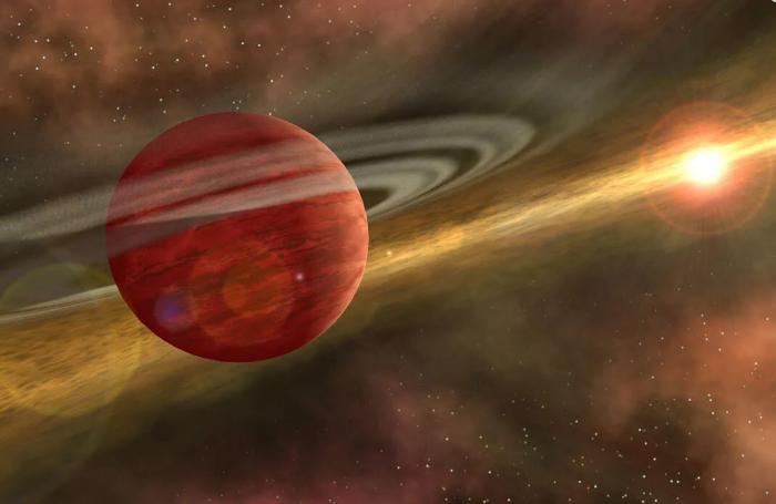 """科学家发现一颗""""婴儿巨行星""""绕遥远年轻恒星运行"""